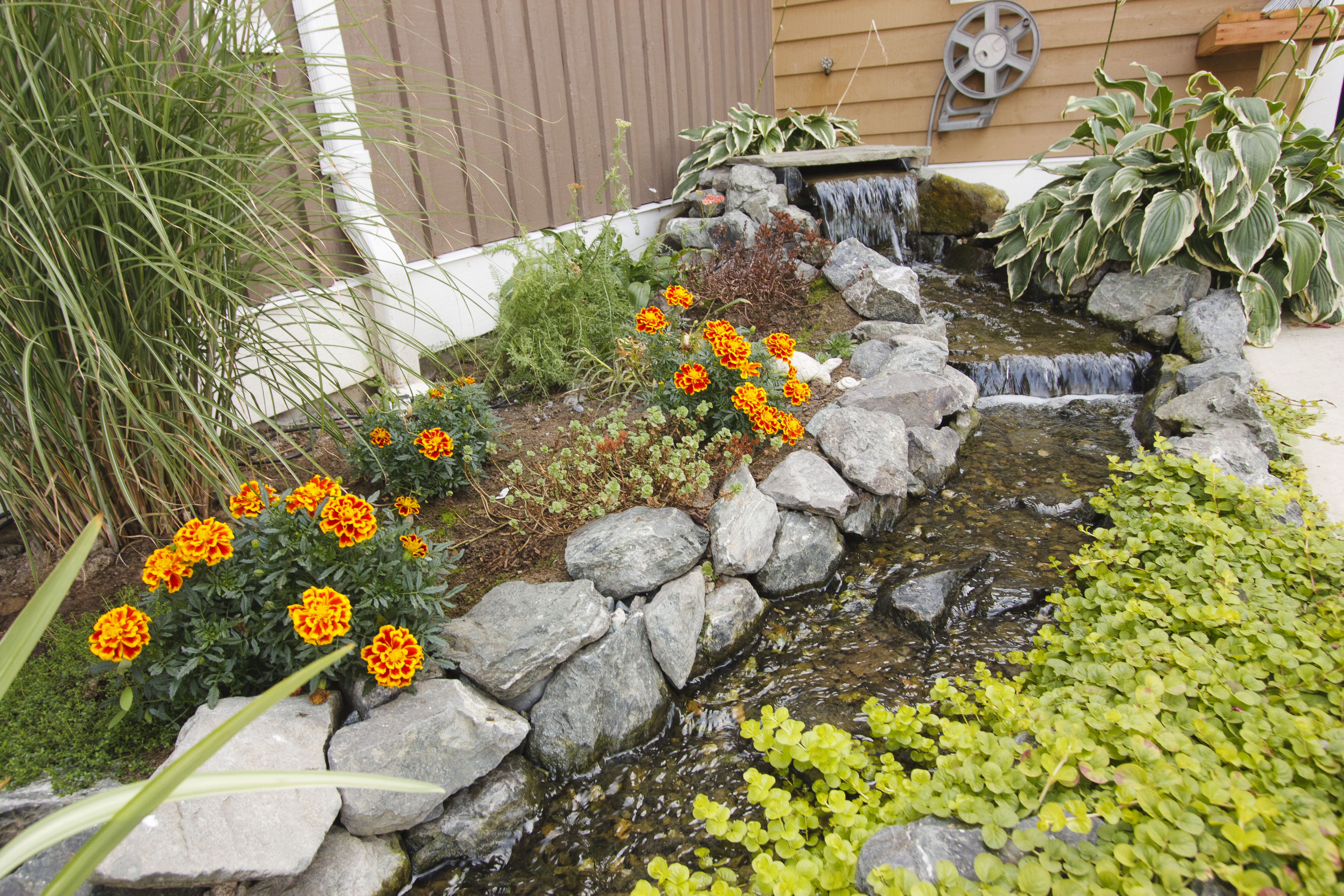 splashy magazine backyard water garden fountains ideas projects for great fountain features wall sunset
